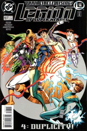 Cover for Legion of Super-Heroes #107