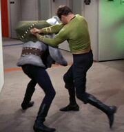 Thelev fights Kirk