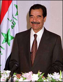 a biography of saddam hussein a president of iraq The execution of saddam hussein took place  saddam replied, the hell that is iraq  united states of america under the leadership of american president george.