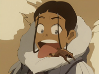 Katara and a wood frog