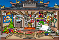 A christmas style dojo igloo