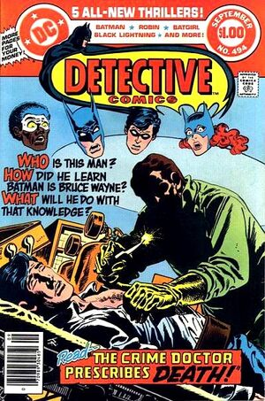 Cover for Detective Comics #494