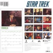 Star Trek Calendar 2005 back