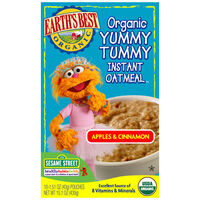 Apples &amp; Cinnamon Organic Yummy Tummy Instant Oatmeal