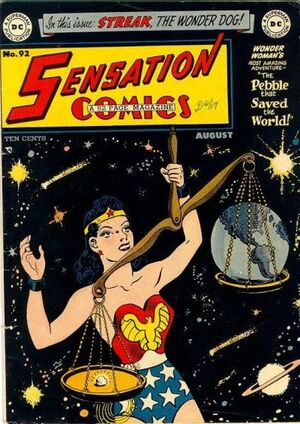 Cover for Sensation Comics #92