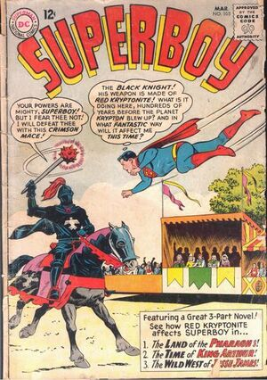 Cover for Superboy #103
