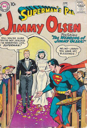 Cover for Superman&#39;s Pal, Jimmy Olsen #21