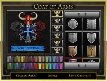 Coat of arms interface