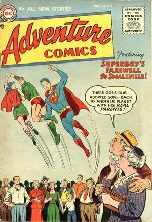 Cover for Adventure Comics #217