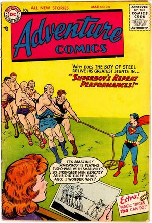 Cover for Adventure Comics #222