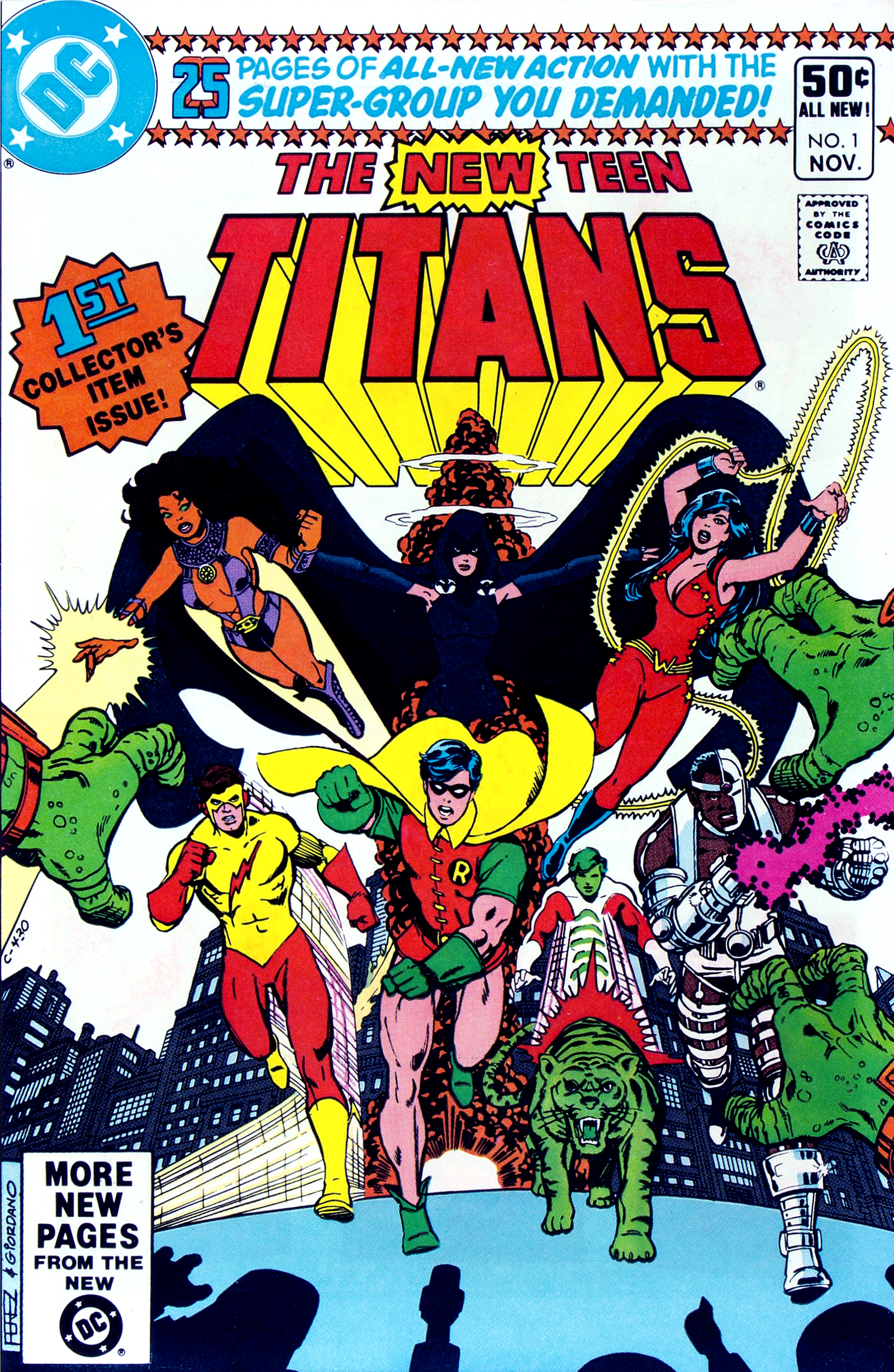 New Teen Titans Vol 1 1.jpg. Cover Gallery