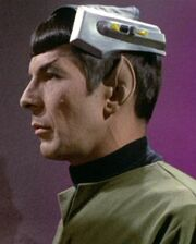 Spock wearing neural stimulator