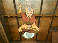 Aang on air scooter
