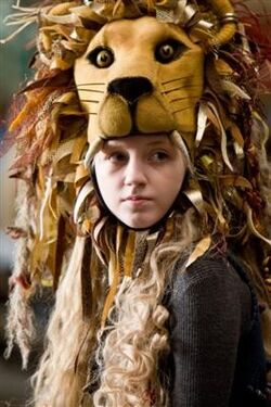 Luna Lovegood on her homemade Lionhead hat