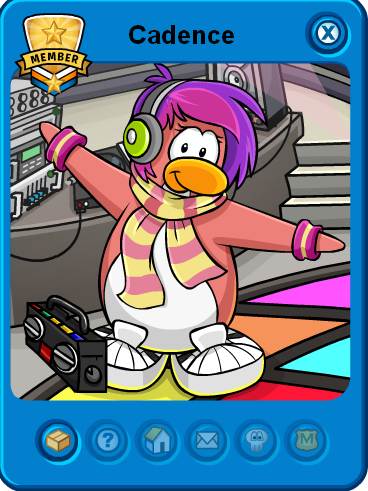 Club Penguin Island giving out a free background. Cadence is part of the