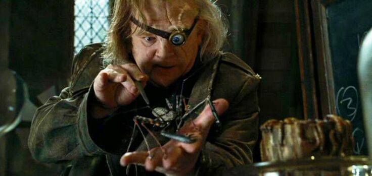Barty Crouch Jr. impersonated as Alastor Moody at Defence Against the Dark Arts class.jpg