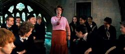 Dolores Umbridge as Defence Against the Dark Arts teacher