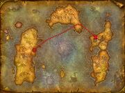 The route from Orgrimmar to Undercity