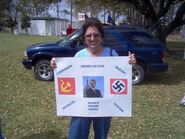 Obama insane hate left communism fascism nazi socialism nation SUV Lafayette Louisiana.20090307
