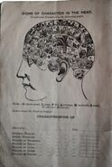 Book by George Burgess on Phrenology, front page
