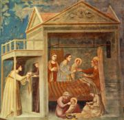 Giotto - Scrovegni - -07- - The Birth of the Virgin