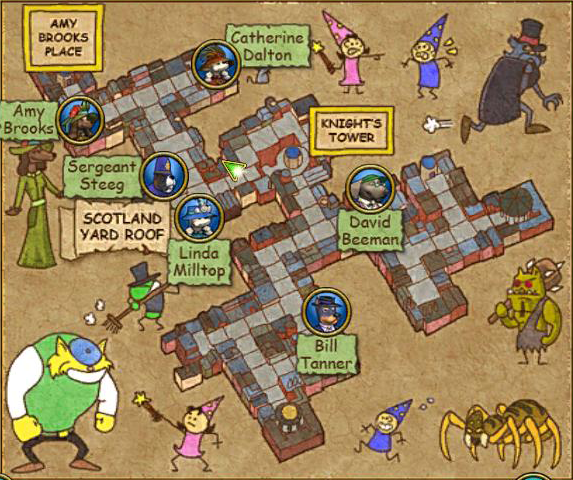 Knight&#39;s Court Map