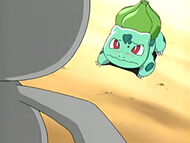 EP400 Bulbasaur retrocediendo