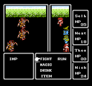 Final Fantasy 1 NES Battle