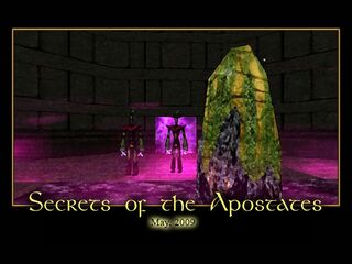 Secrets of the Apostates Splash Screen