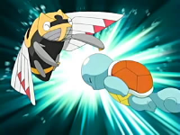 EP467 Squirtle usando cabezazo