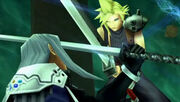 Cloud faces sephiroth dissidia
