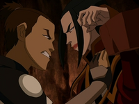 Sokka interrogates Azula