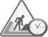 Underconstruction clock icon gray svg