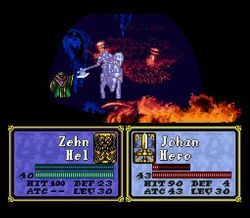 Zehn Reducing Johan's HP to 1
