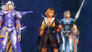 Tidus Cecil Firion dissidia