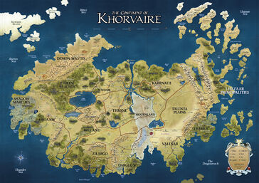 D&D - 4th Edition - Eberron Map Khorvaire