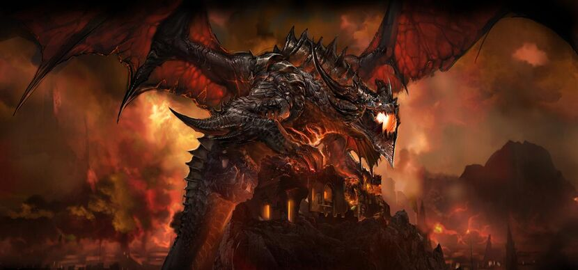 Deathwing from the Cataclysm Cinematic
