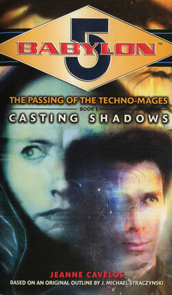 Book casting shadows front