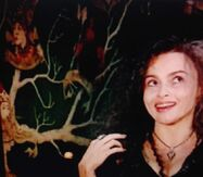 Helena Bonham Carter and the tree
