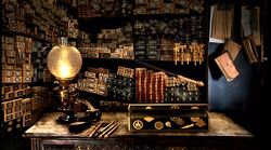 Wands display at Ollivander&#39;s Shop (1991)