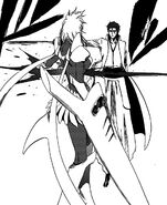 Aizen slashes Harribel