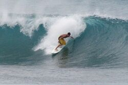 Oahu North Shore surfing hand drag