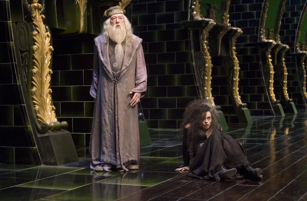 Albus dumbledore and bellatrix lestrange order of the phoenix movie