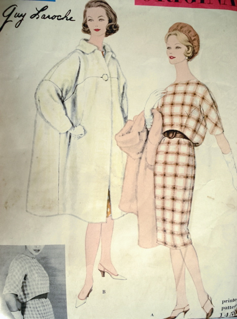 Vogue 1450 by Guy Laroche 1959 dress and coat pattern