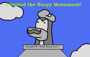 Burpy Monument Postcard