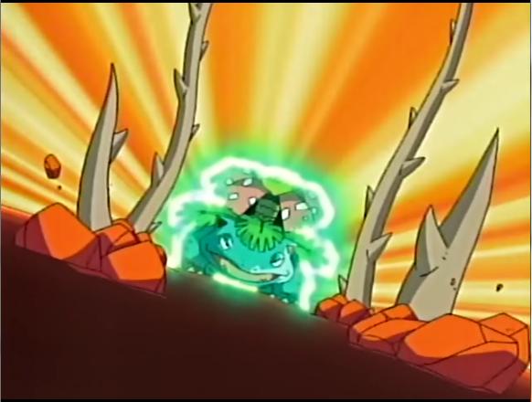 Pokemons de Kanto! EP428_Venusaur_generando_planta_loca