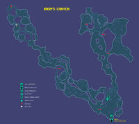 Krom's Canyon Map