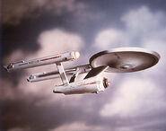 USS Enterprise three foot model