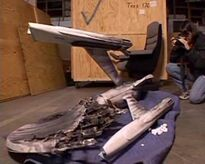 USS Enterprise debris model