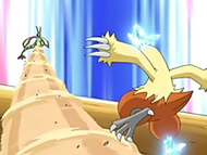 EP458 Combusken esquivando la tormenta arena de Flygon